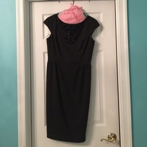 MAGGY LONDON Embellished Black Dress