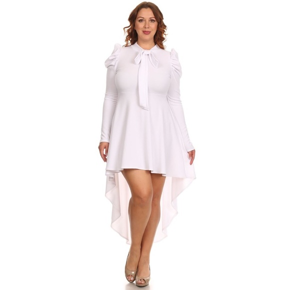 Dresses | White Plus Size High Low Dress | Poshmark