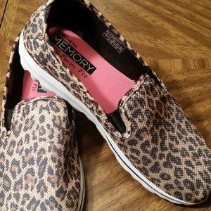 skechers memory foam leopard print Sale