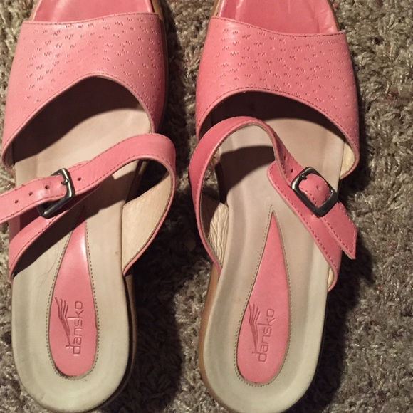 80 dansko shoes dansko pink leather sandals size 38