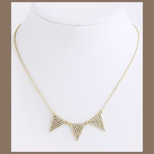 Jewelry - NWT Crystal Triangle Necklace