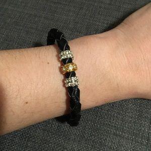 Jewelry - Black Leather Magnetic Bracelet.