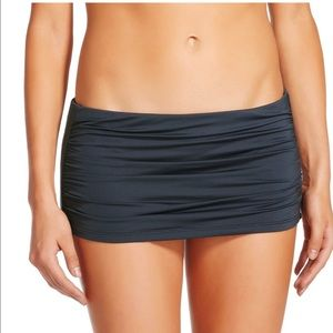 NWOT gray swim skirt L & XL