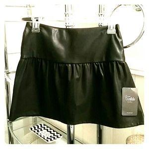New Zara Faux Leather Mini Skirt