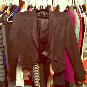 Young Fabulous & Broke Black Silk Blazer
