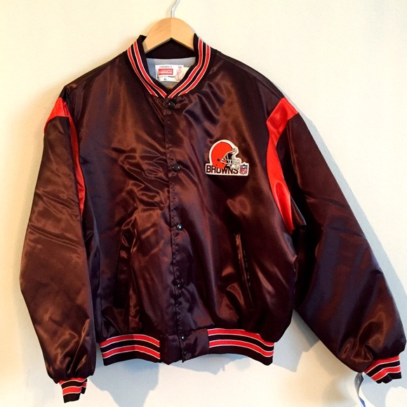 best service 205b5 067bf NWT VTG NFL Cleveland Brown bomber satin jacket XL NWT