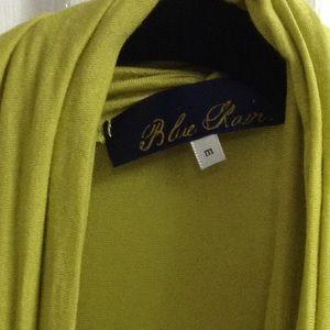 Blue rain Tops - Blue rain lime green wrap blouse