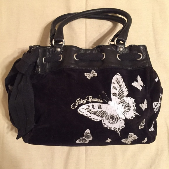 Juicy Couture Handbags - Juicy Couture Butterfly Daydreamer Velour Tote e7a053ee228c