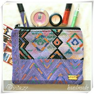 Ketzali Handbags - ❤☄HP🍀👜 Handmade makeup bag,