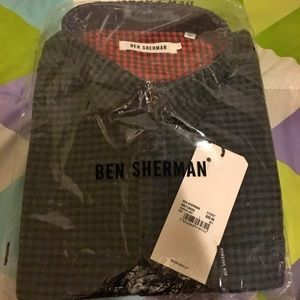NRFB Ben Sherman Gray Brushed Twill Gingham Shirt