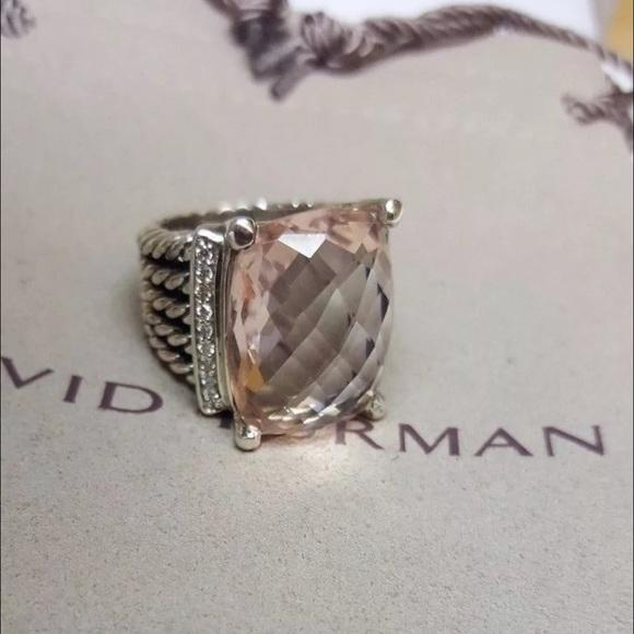 32860a5fd2e David Yurman Jewelry - David Yurman 20 x 15 morganite Wheaton ring 6.5