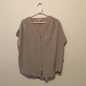 Grey silk Joie blouse