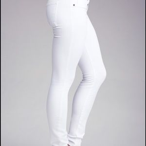 white bebe skinny jeans on Poshmark