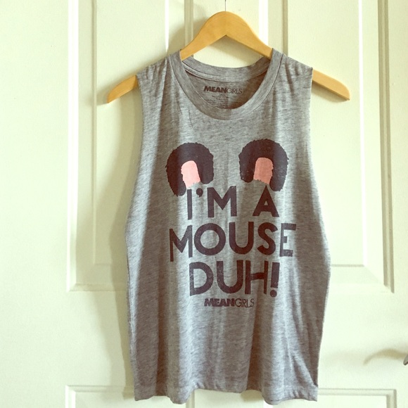 i'm a mouse duh! mean girls tank - NEW