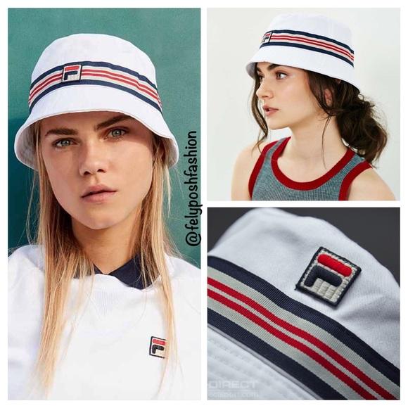 76aa7007c0e Urban Outfitters X Fila Casper Bucket Hat