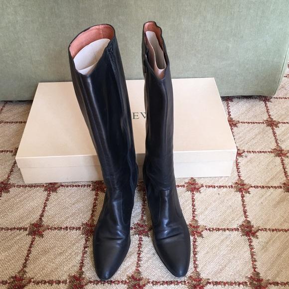 8e9645a69c8 J.Crew Long Rivington Leather Kitten-heel Boots