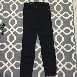 Black toothpick pants