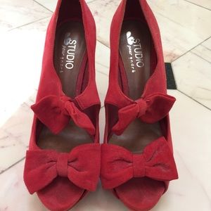 Red Andre heels from Paris