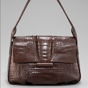 Nancy Gonzalez Croc Flap Shoulder Bag, Medium NWT