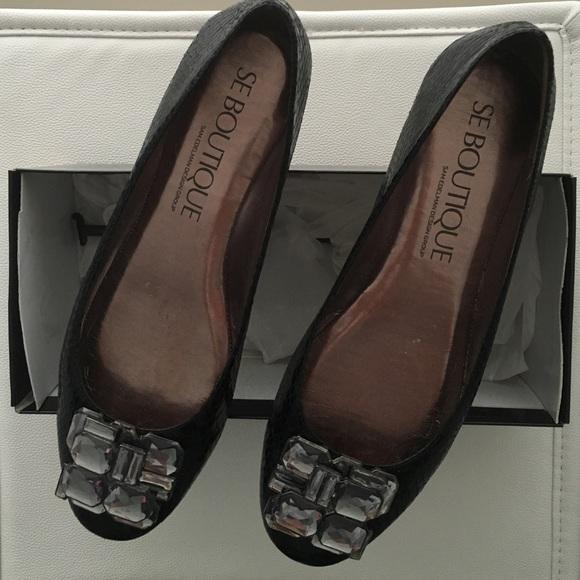10a8d110b3b50f Sam Edelman (SE Boutique) Black Boa Flat