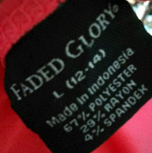 Faded Glory Dresses - Coral V-Neck Dress