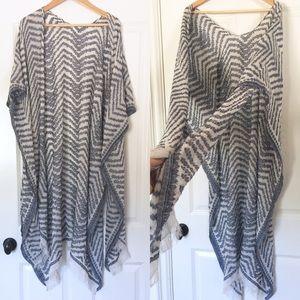 Anthropologie poncho caftan scarf wrap