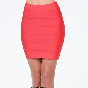 Bebe Bandage Skirt 🌈