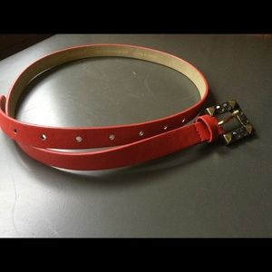 Betsey Johnson Accessories - Red Leather Belt