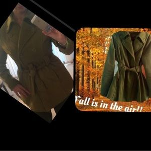 Joujou Jackets & Blazers - 🦋Olive Green💚Double Breasted💚Pea Coat