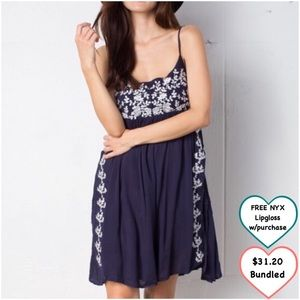 April Spirit Dresses & Skirts - Flower Embroidered Dress