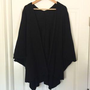 Anthropologie black poncho oversized sweater