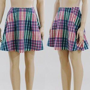 Kate Spade Saturday NWT  Mini Spring Plaid Skirt