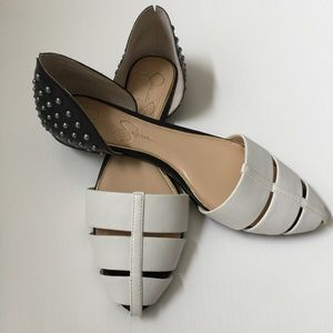 Jessica Simpson Shoes - 💄HP💄Jessica Simpson Studded D' Orsay flats