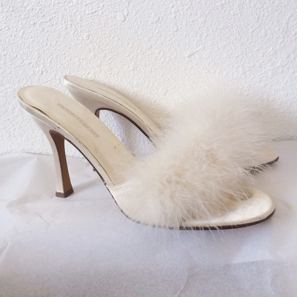 67% off Victoria's Secret Shoes - Vtg Victoria's Secret fluffy ...