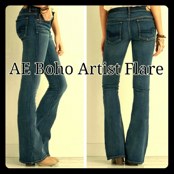 40% off American Eagle Outfitters Denim - AE Boho Artist Flare 18 ...