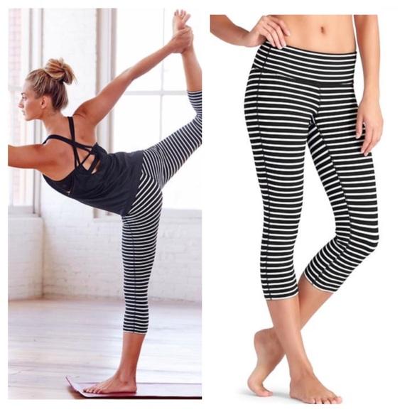 23% off Athleta Pants - 💸SOLD💸Athleta Stripes Chaturanga Capri ...
