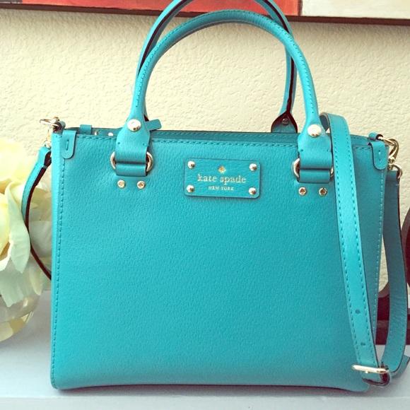 Small Quinn Wellesley Handbag Turquoise Blue Green a9dc20514480a