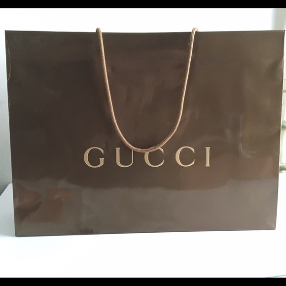 58ac05db05df Gucci Bags | Authentic Glossy Paper Shopping Bag | Poshmark