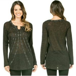 MONORENO knit embroidered long sleeve