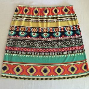 Sunny Leigh Dresses & Skirts - FINAL ❤Matte jersey colorful skirt NWOT