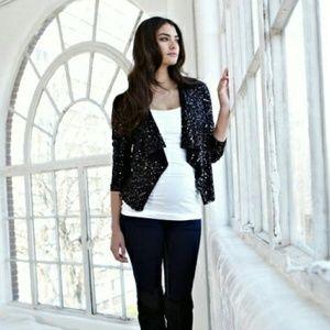 Isabella Oliver Jackets & Blazers - Isabella Oliver 'Maisy' Sequin Maternity Jacket
