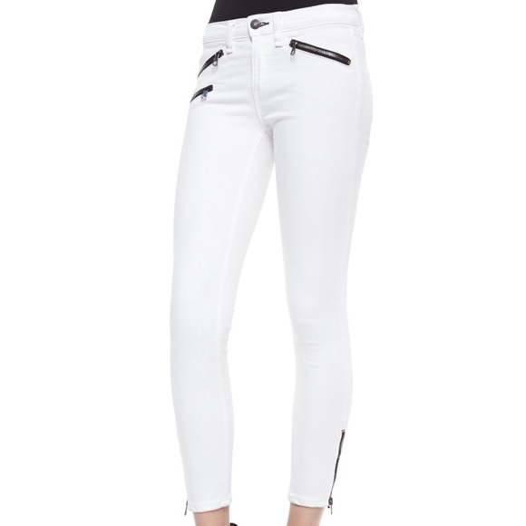 60% off rag & bone Denim - Rag and Bone white skinny leg ankle ...