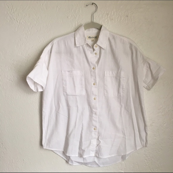 e2029b47bf9d85 Madewell Tops - Madewell White Cotton Courier Shirt