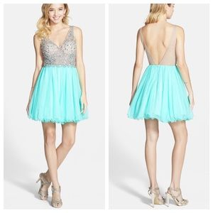 Blondie Nites Dresses & Skirts - Blondie Nights Stunning Crystal Fit & Flare Dress
