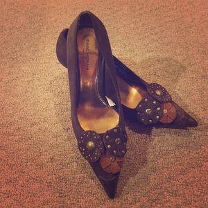 Isaac Mizrahi sz 7.5 brown heels