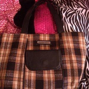 Longaberger plaid purse