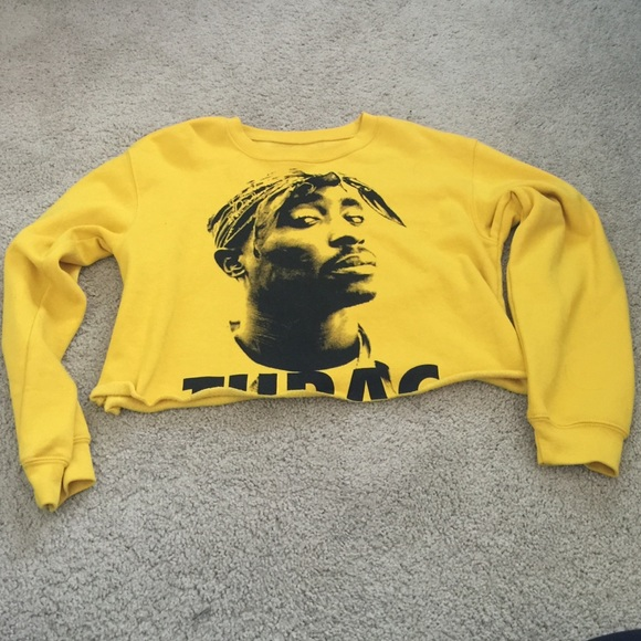 ab1f0a98afd1b3 Forever 21 Tops - Tupac cropped sweater