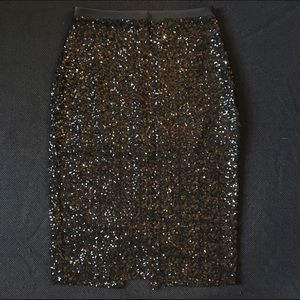 Express Black Sequin Pencil Skirt Size 0