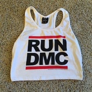 Bravado Tops - RUN DMC racer back tank