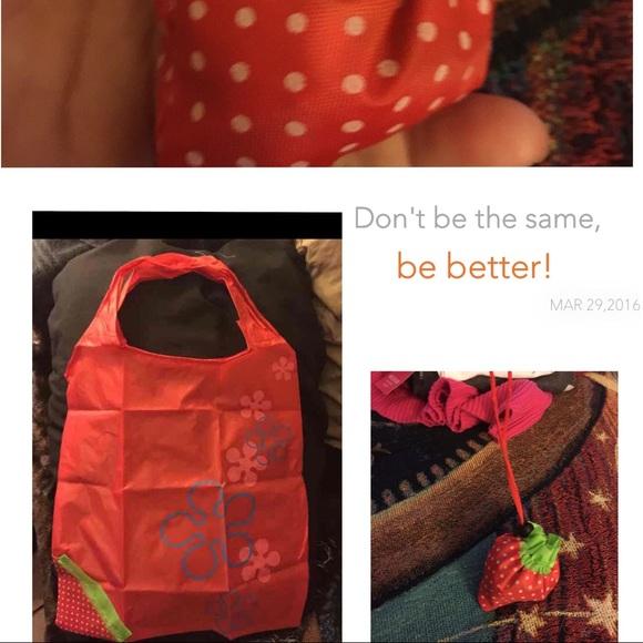 AWESOME~RED~STRAWBERRY TOTE/SUPER STRONG MATERIAL From